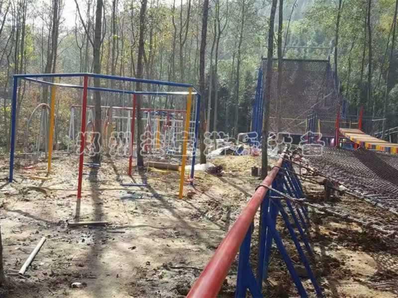 安徽度假山庄体能乐园正在施工中