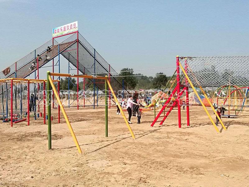 江西赣州儿童户外拓展安装完毕